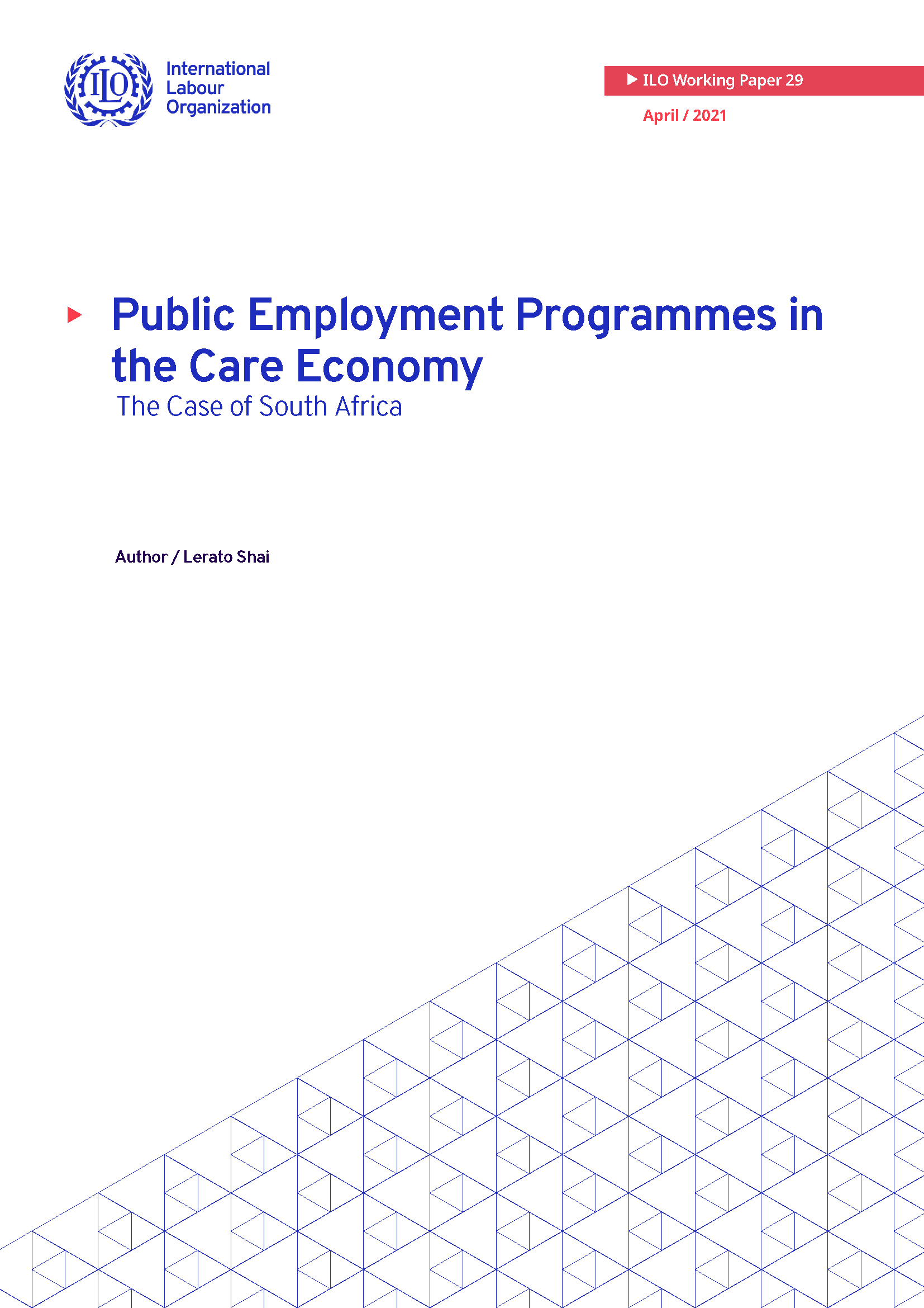 Public Employment Programmes in the Care Economy - The Case of South Africa