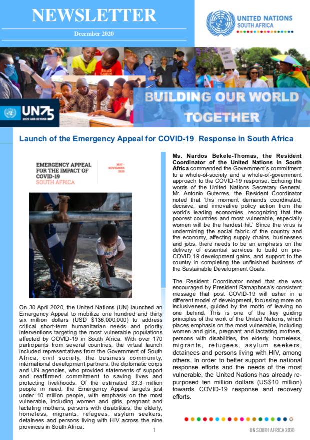 UN South Africa Newsletter, December 2020