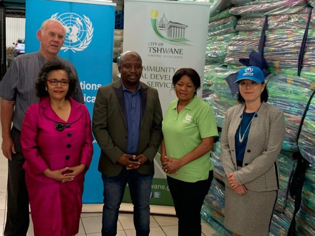 United Nations in South Africa contributes relief supplies to the City of Tshwane floods victims