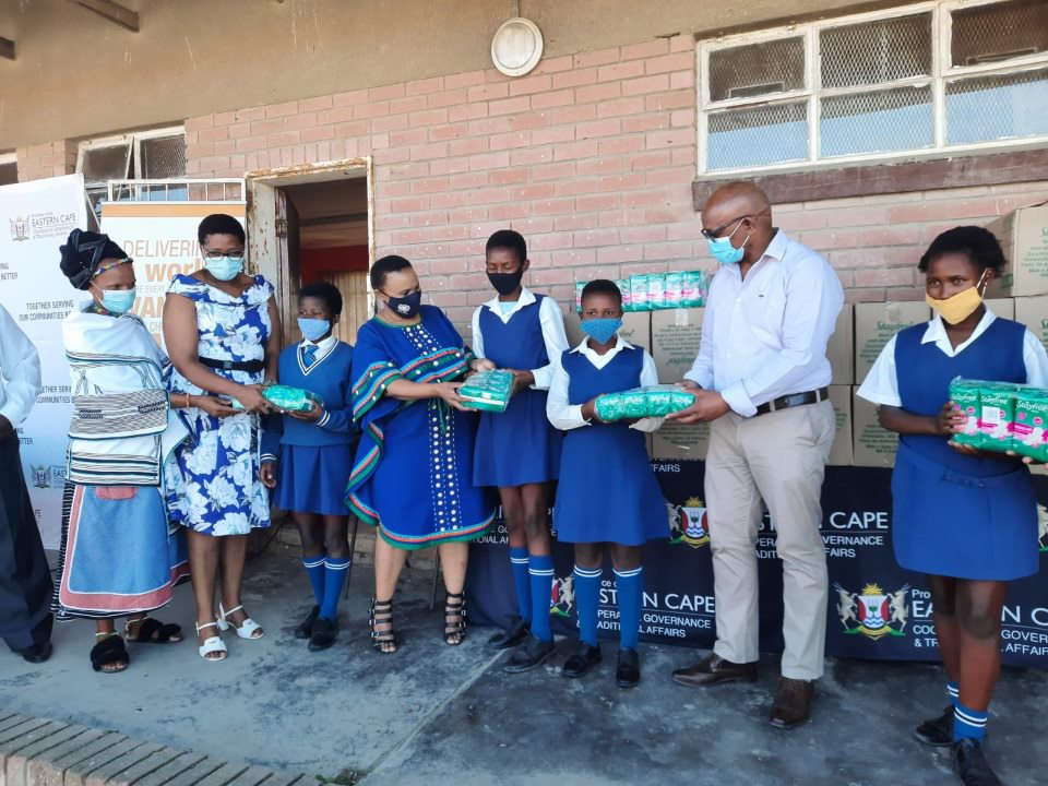 Rural schools in Eastern Cape benefit from donation of sanitary dignity towels
